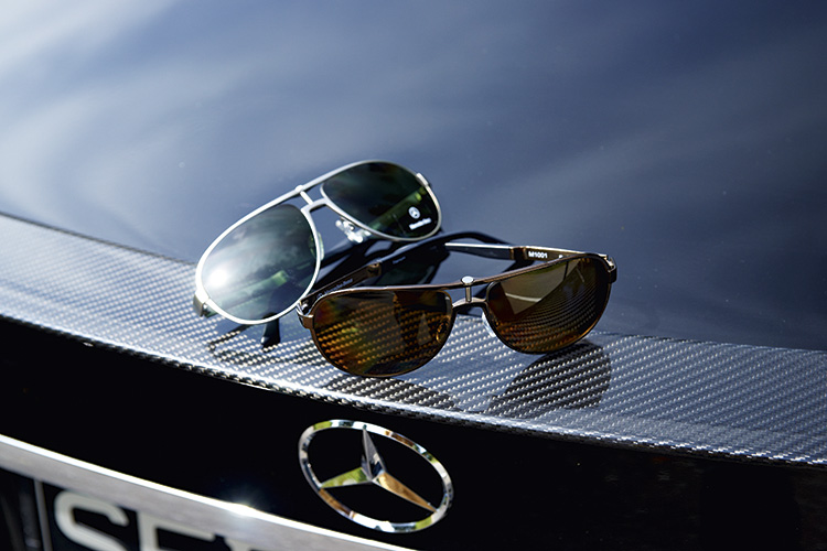 """Titanium for the """"correct"""" shades and carbon fibre for the subtle boot lip spoiler."""