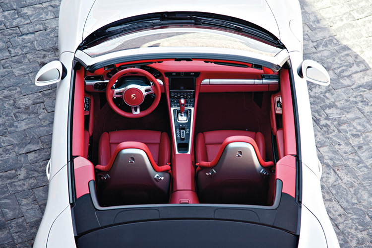 porsche 911 carrera s cabriolet cabin