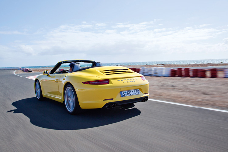 If specified with Sport Plus, the Carrera S cabrio PDK powers from zero to 100km/h in 4.3 seconds and hits 200km/h just 10 seconds later.