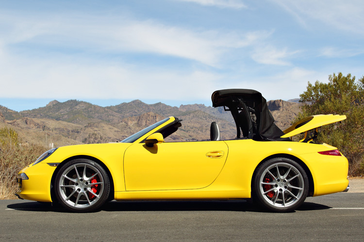 porsche 911 carrera s cabriolet roof operation