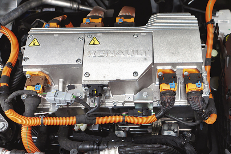 Renault Fluence electric motor.