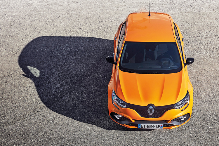 renault megane rs top down