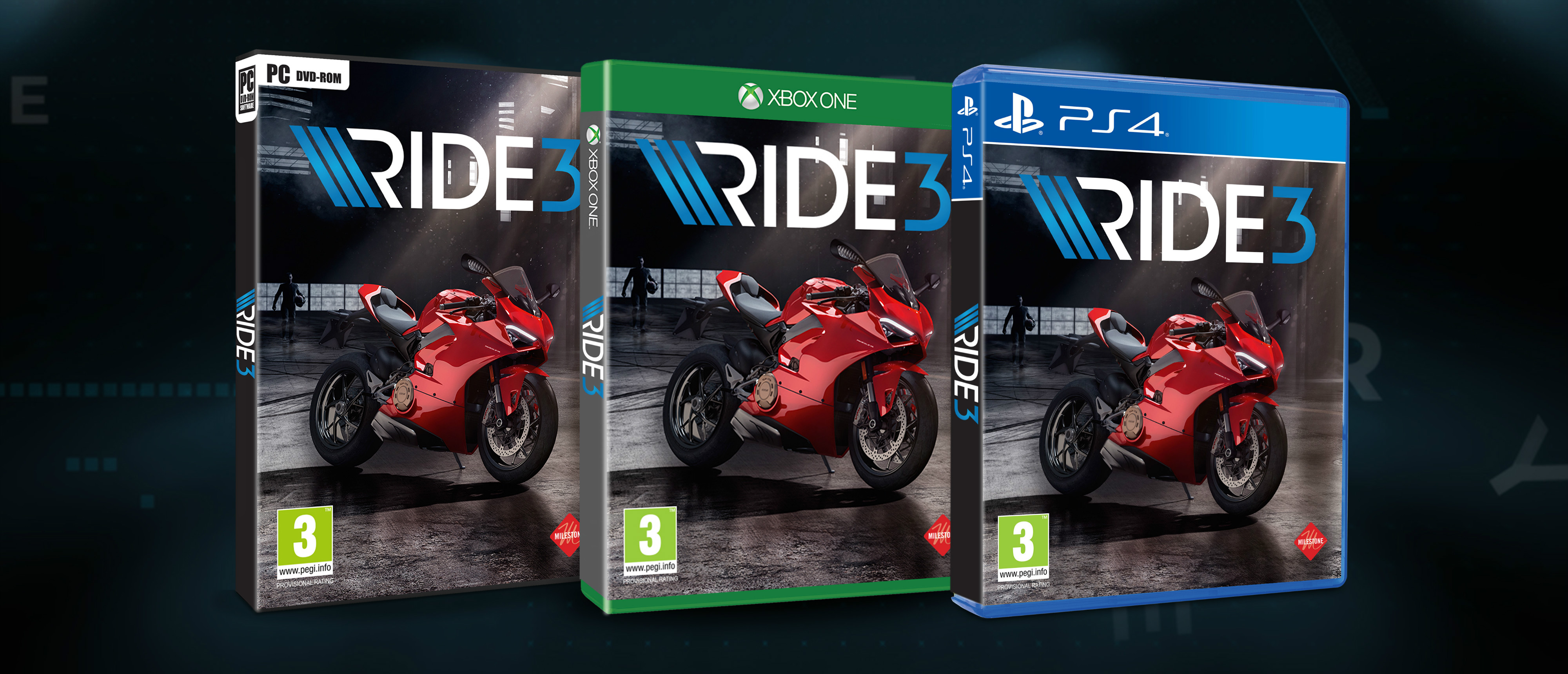19 Ducati bikes are featured in 'Ride 3', including the Panigale V4, 916, Monster 900 and Scrambler Icon.
