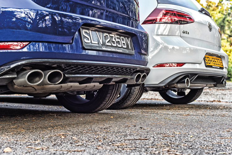 volkswagen golf r and volkswagen golf gti exhausts