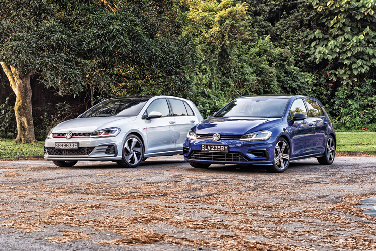 volkswagen golf gti and volkswagen golf r