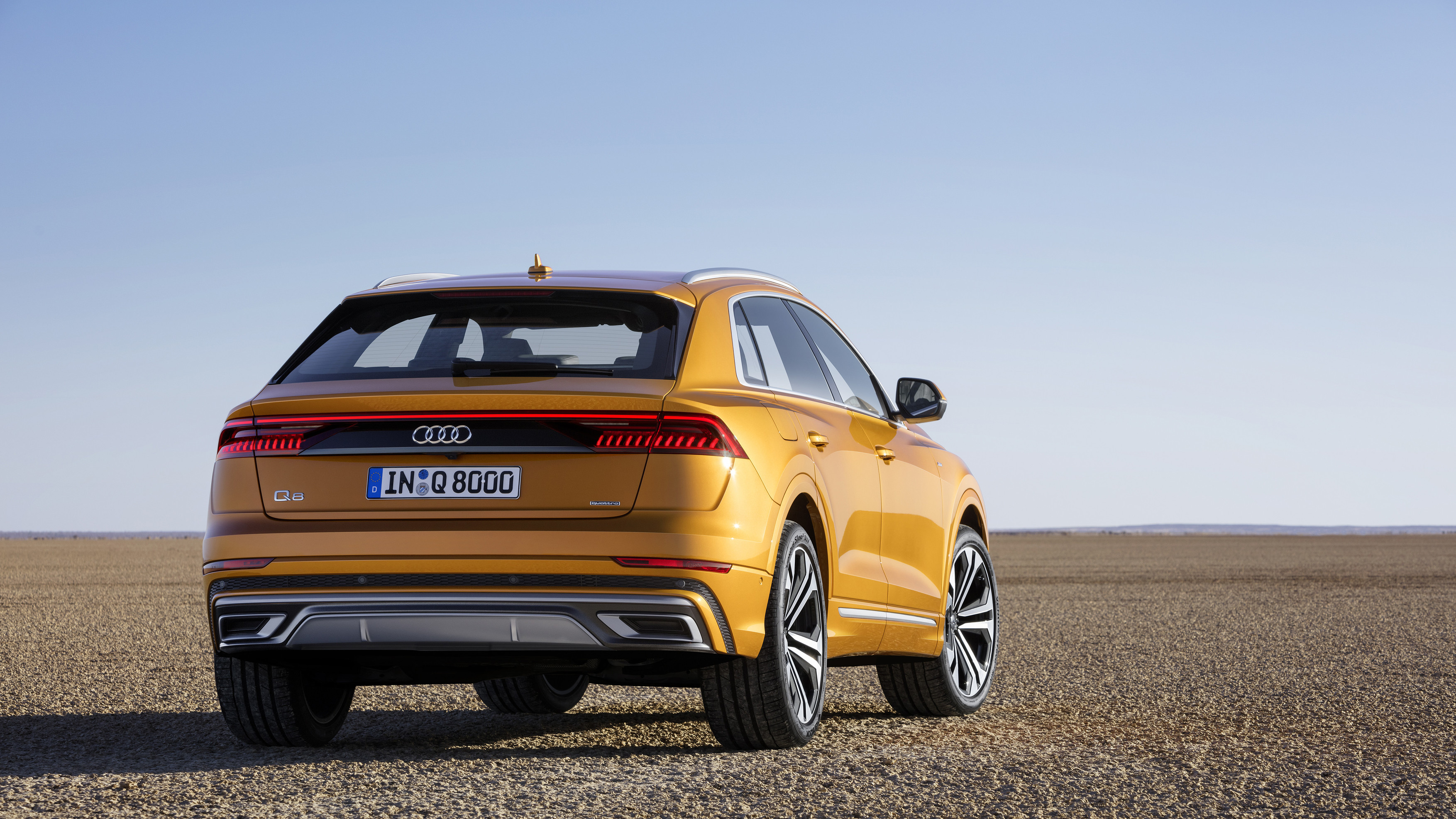 The Audi Q8 combines the elegance of a four-door luxury coupe with the practical versatility of a large SUV. Richly equipped, comprehensively connected and tough enough for off-road duty, the new Q8 is a confident companion for business and leisure.