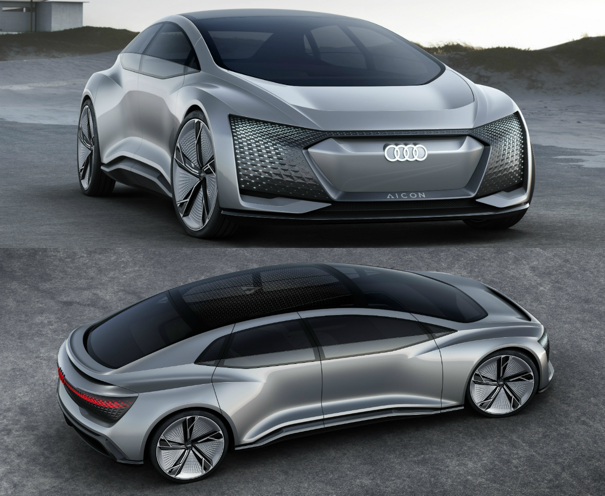Audi's Aicon is an autonomous electric vehicle which will revolutionise the motoring landscape.