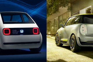 Honda's Urban EV Concept and MINI's Electric Concept are battery-powered prototypes which will enter production in 2019 as funky runabouts.