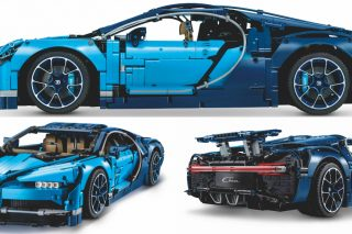 The 1:8 scale Lego Technic Bugatti Chiron replica model – measuring over 14cm high, 56cm long and 25cm wide, and featuring 3599 pieces – is packed full of intricate details and immersive touches.