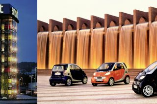 """The unique urban runabout, Smart, started its city life 20 years ago in 1998 as a Swiss-German """"Micro Compact Car"""" built in a little French factory called Smartville."""