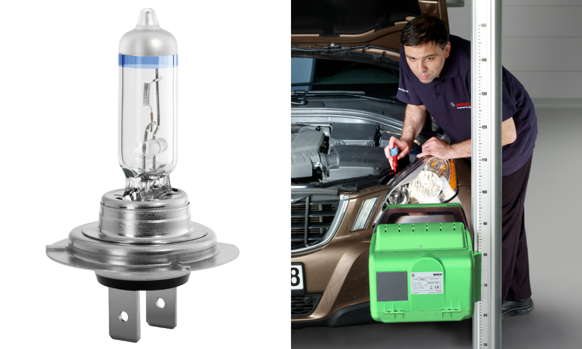 We answer a question about the replacement of headlamp bulbs and the possible upgrades.