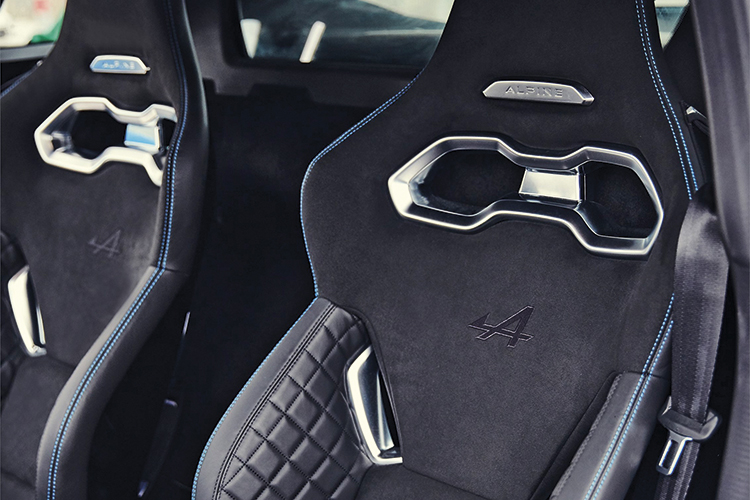 alpine a110 bucket seats
