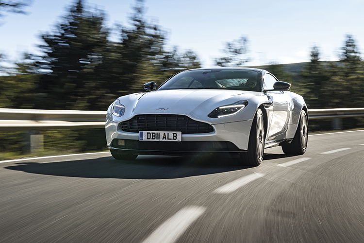 aston martin db11 v8 front tracking