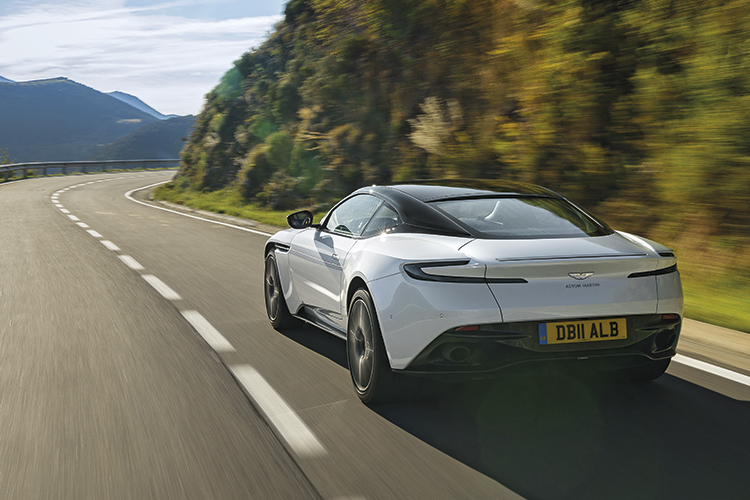 aston martin db11 v8 rear tracking