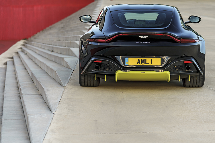 aston martin vantage static rear
