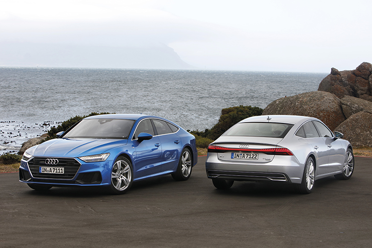 The Audi A7 Sportback is no compact sports car, but its punchy motor, responsive steering and all-wheel-drive make it an easy car to drive quickly, even on tight roads.