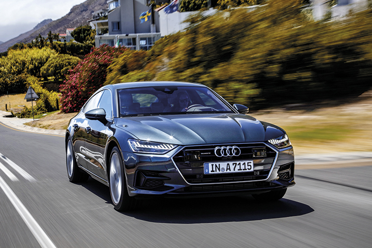 The A7's fastback bodystyle makes it a unique and far more practical proposition than its rivals.