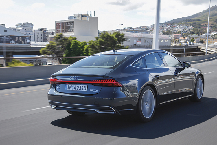 The Audi A7 Sportback's refinement masks the punchiness of its acceleration, but its poise and grip are nothing to be scoffed at.