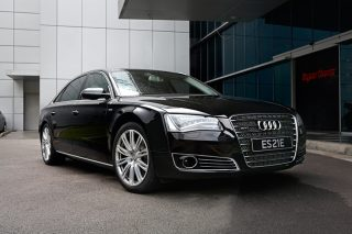 audi a8 w12 front static