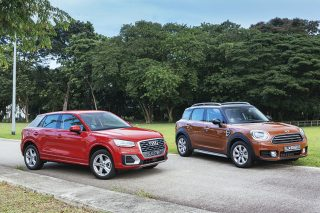 audi q2 and mini cooper countryman