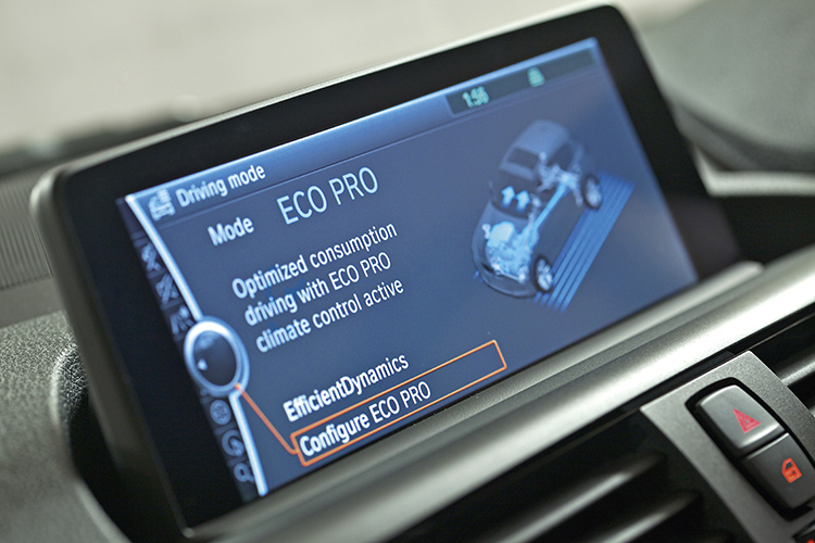 bmw 116i infotainment screen