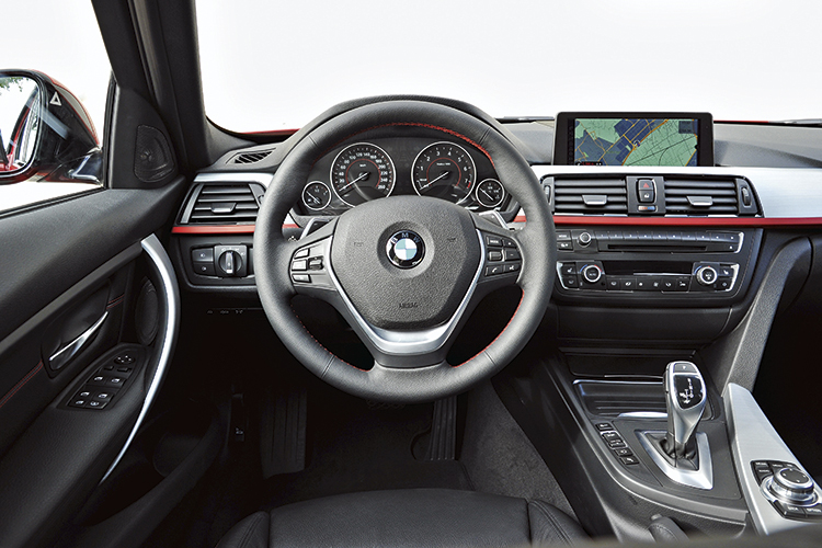 Red accents and brushed aluminium make the Sport interior specification most ideal for the naturally sporty BMW 3 Series,
