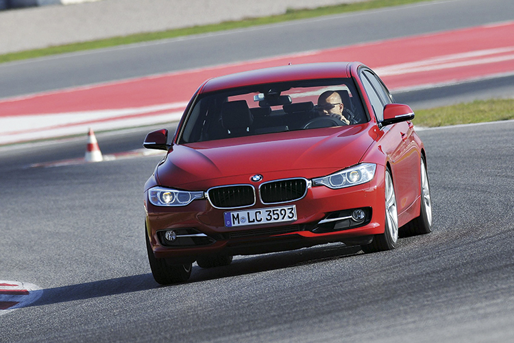 """The test cars at the launch were fitted with Adaptive M Sport suspension to cope with the rigours of """"racing""""."""
