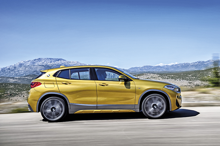 BMW X2 is agile and responsive, with good traction and equally good body control in corners.