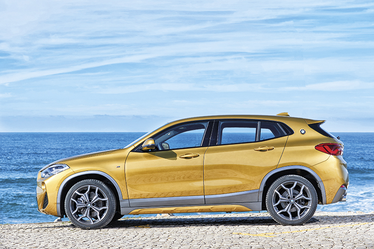 The BMW X2 slots between the entry-level BMW X1 and the third-generation BMW X3.