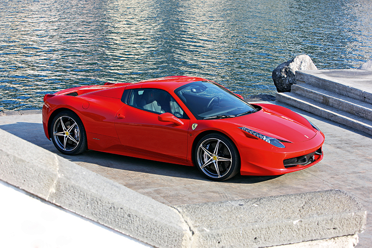 """One of the cleanest and cleverest """"chop jobs"""" ever, this car looks exactly like the Ferrari 458 Italia from most angles."""