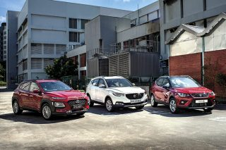 hyundai kona, mg zs and seat arona front main