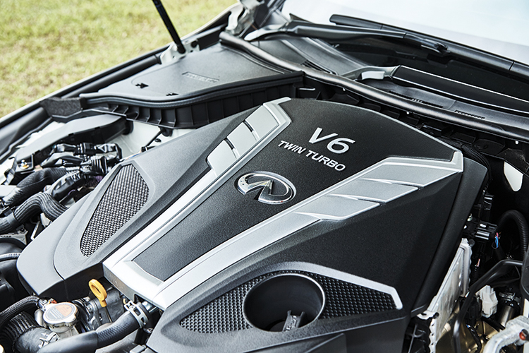 Infiniti Q60's 3-litre VR30DDTT V6 engine emphasises smoothness over sportiness.