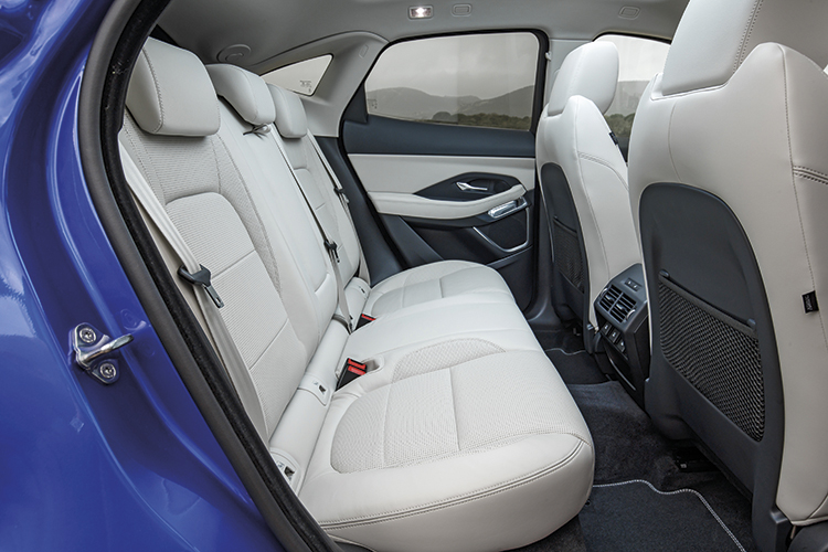 Creature comforts and practical storage points are found throughout the Jaguar E-Pace's inviting interior.