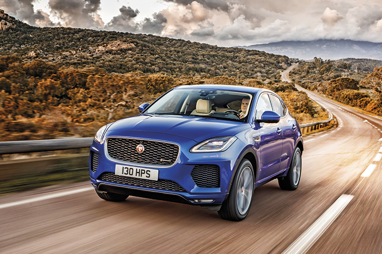 The shape of the Jaguar E-Pace is inspired by the Jaguar F-Type Coupe.