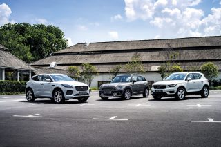 Only two of the three vehicles we've gathered here are actually the entry-level SUV models in their respective lineups: the Jaguar E-Pace and Volvo XC40. The Countryman is the sole SUV in the MINI range. However, this doesn't change the fact that the three contenders are all similar in size, performance and price. So, if you're considering one, you're probably thinking about the other two cars as well. Sure to give buyers plenty to think about is the Volvo XC40. It may be the brand's smallest SUV, but it is stylish, has a long list of standard safety features, and packs a rather potent powertrain, too. The most athletic-looking SUV in this comparison test is the Jaguar E-Pace, which takes its design cues from its F-Type Coupe/Roadster siblings. But does this Jag have the performance to match its looks? The most established SUV in this story is the MINI Countryman, which is already in its second generation. Apart from being roomy and practical, the Countryman promises to be fun, too. Which of these baby SUVs will well-to-do suburbanites in Singapore find the most irresistible?