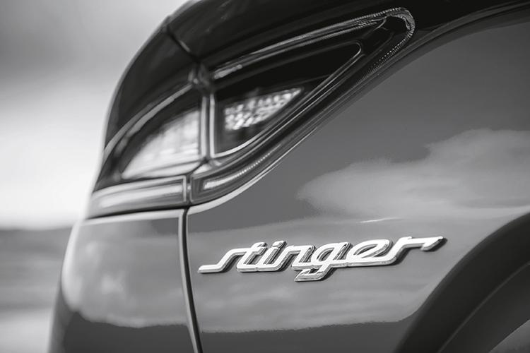 kia stinger badge