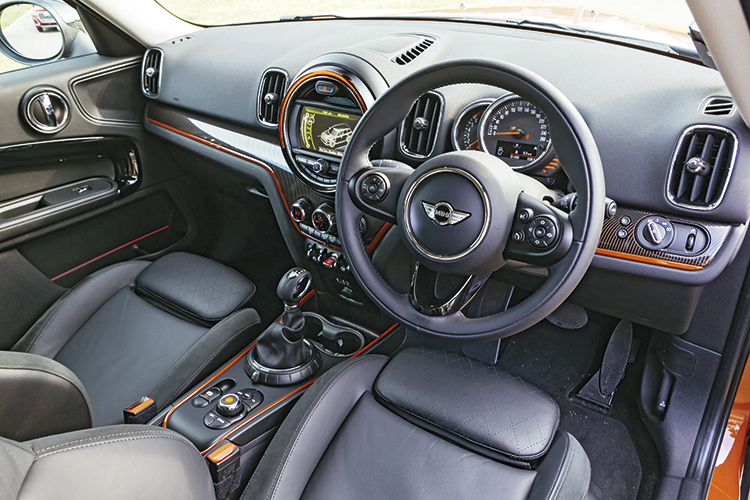 MINI Cooper Countryman interior looks and feels fantastic.