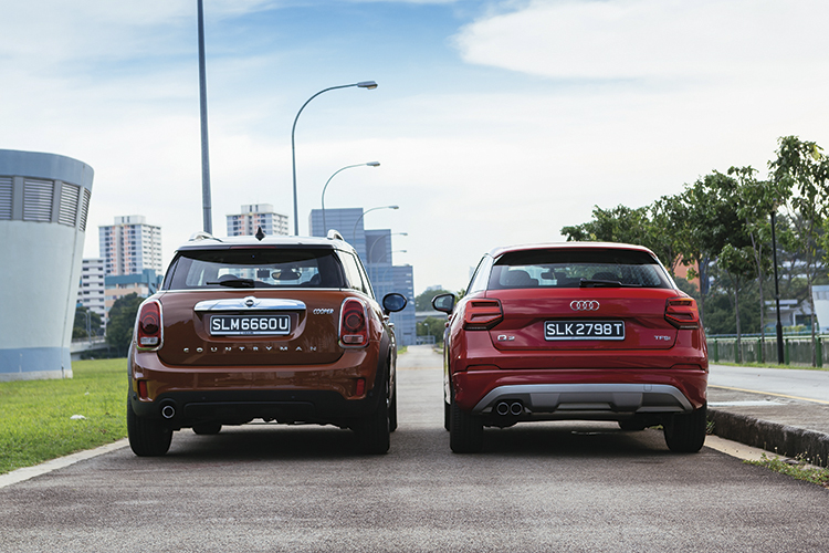 The MINI Cooper Countryman eagerly bites into bends, but as I try to carve a line through a long sweeper, I realise that the Q2 does it better.