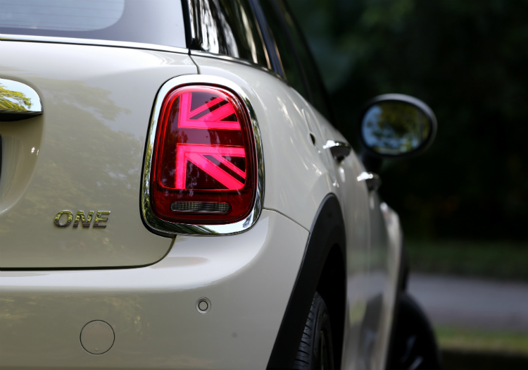 mini one five-door tail-light