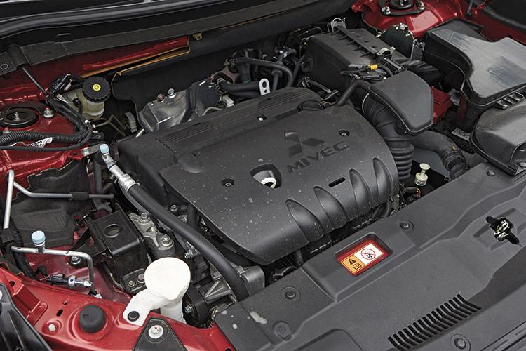 Outlander's 2.4-litre petrol drivetrain is peppy.