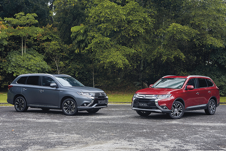 The Outlander is sprightlier than expected, while the Outlander PHEV's power delivery in EV mode is instantaneous and eerie.