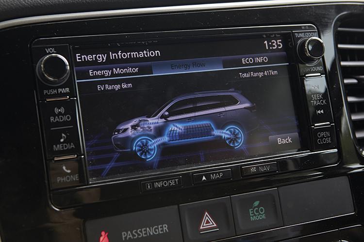 mitsubishi outlander phev energy monitor