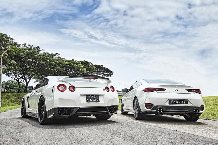 Infiniti Q60 Red Sport 400 Meets Godzilla Nissan Gt R Torque