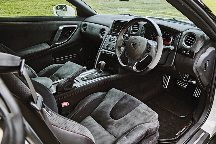 Nissan GT-R cabin is more purposeful and packed with gadgets for the Playstation-playing petrolhead.