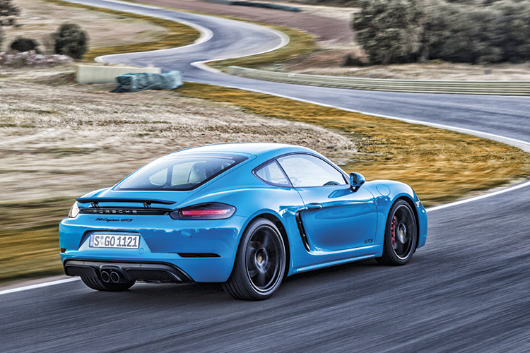 Compared to the Porsche 718 Cayman S, the 718 Cayman GTS provides greater cornering precision and slightly higher performance.