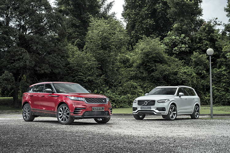 The Range Rover Velar is a compelling combination of pageantry and gadgetry, while the Volvo XC90 is a blend of style and Swede sensibility.