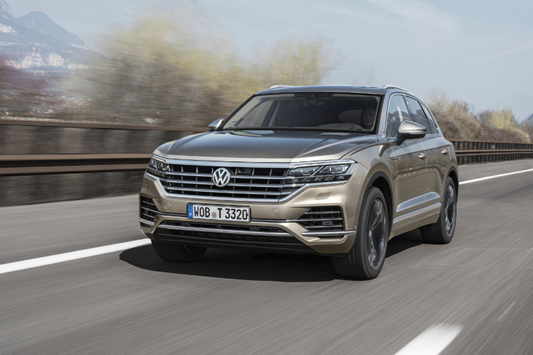 volkswagen touareg front tracking
