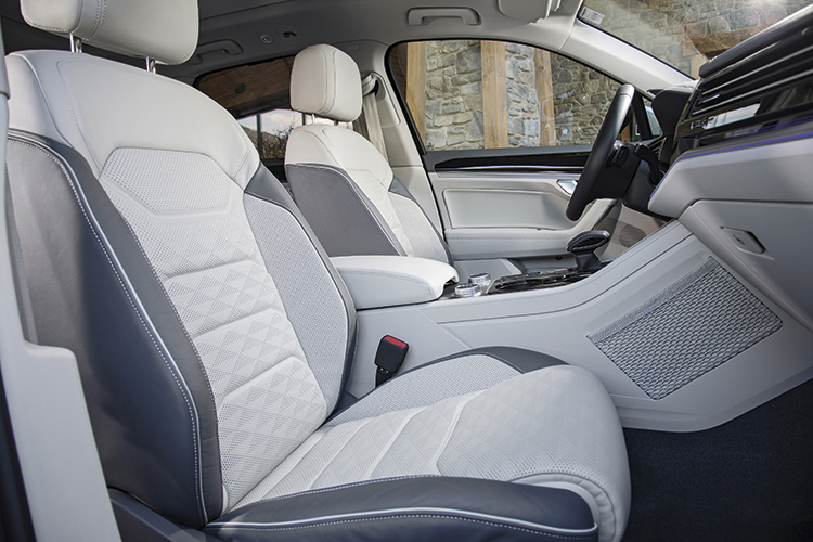 New Volkswagen Touareg's interior offers excellent seats, VW's biggest panoramic sunroof, a hugely useful boot and all the amenities of a deluxe German SUV.