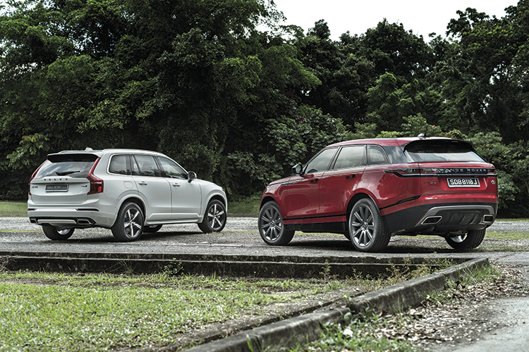 When it comes to the actual drive, the Volvo XC90 is surprisingly perkier and more responsive than the Range Rover Velar.
