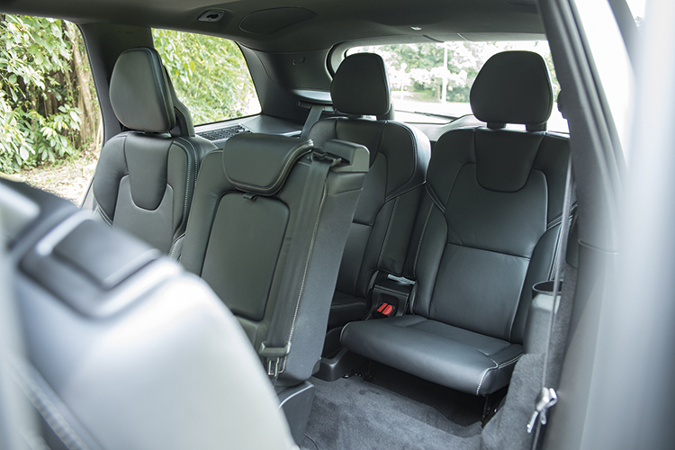 Volvo XC90's third-row seats are only good for children or young adults.